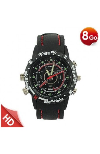 Montre Camera Espion Sport  8 Go