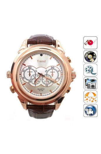 Montre Camera Espion TREND GOLD 8G
