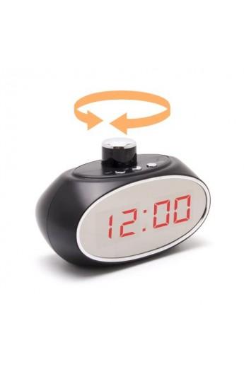 Horloge avec caméra cachée pilotable À 330° IP WIFI