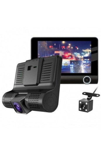 Double Camera Voiture Rotative 360° - GPS vision de nuit