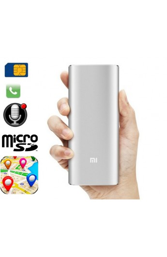 Power Bank Micro GSM/GPS espion - Enregistrement Audio