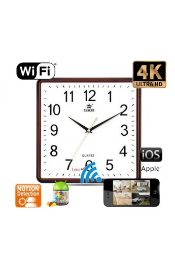 Horloge Murale Camera Espion IP-WIFI ULTRA HD 4K au Maroc